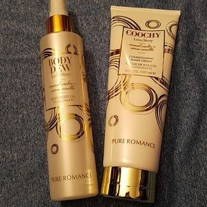 Pure Romance Makeup - combo pure romance body oil and shave cream